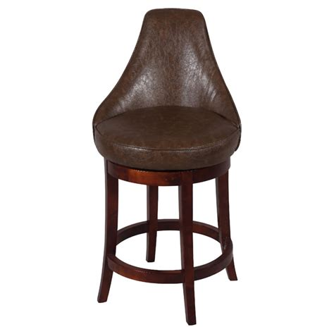 Antique Brown T Bar daira 26 swivel counter stool wenge antique brown leather dcg stores
