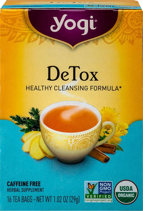 Yogi Detox Healthy Cleansing Formula by Detox Tea 16 Tea Bags Cleansing Detox Products Puritan