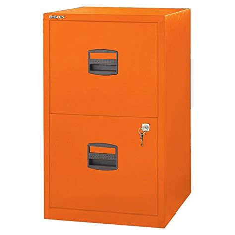Orange Filing Cabinet Bisley Two Drawer Steel Home Filing Cabinet Orange File2 Or Desertcart