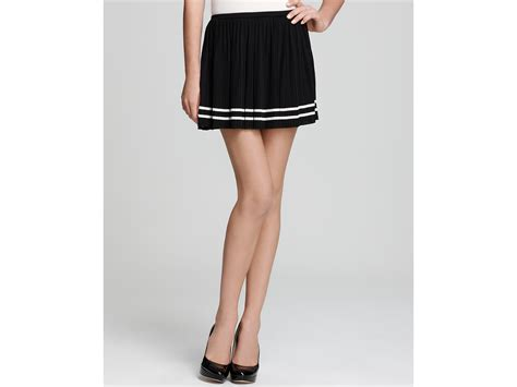 couture pleated knit skirt in black black combo lyst