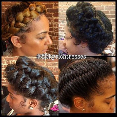 halo extension updo halo braid braided styles pinterest halo braid