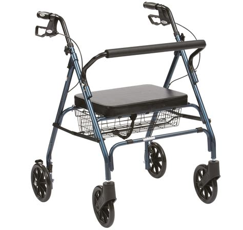 4 wheel walker with seat and basket drive heavy duty 4 wheel rollator with padded seat
