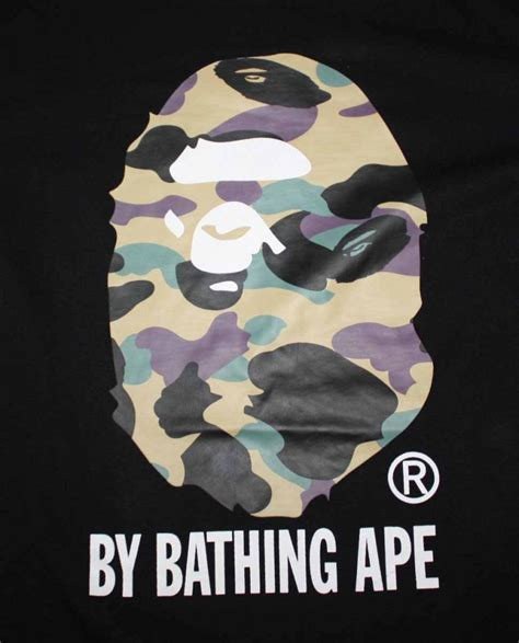 Bape Big Logo By Bathing Ape Camo bape logo camo t shirt dopestudent