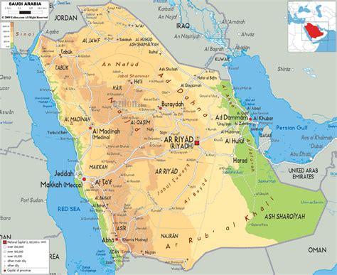 arabia map saudi arabia physical map map pictures