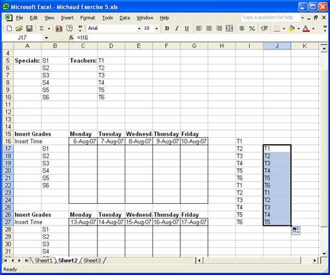 Spreadsheet Autofill by Excel Exercise 5