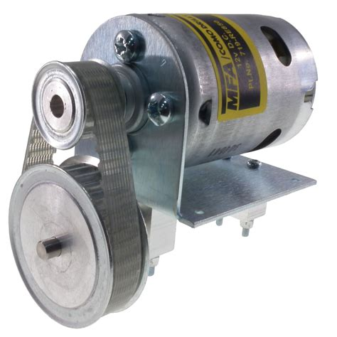 12 v motor 800 12v dc motor with 2 1 1 belt reduction drive mfa