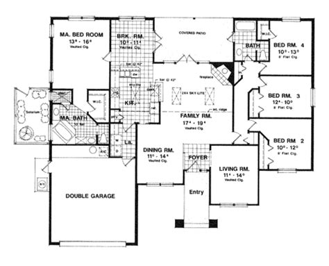 Contemporary House Plan With 4 Bedrooms And 2 5 Baths Floor Plans 4000 Sq Ft