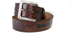 ah223 harley davidson 174 embossed brown leather belt