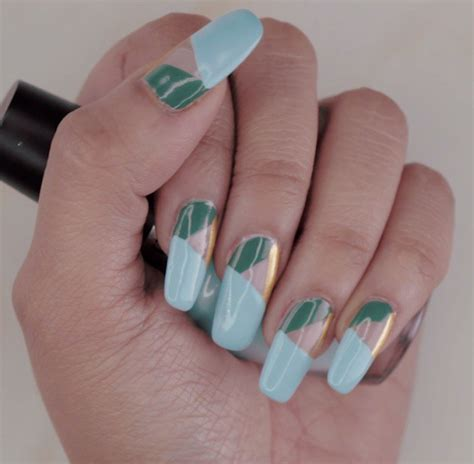 geometric pattern nail art must try elegant geometric pattern nails tutorial for your
