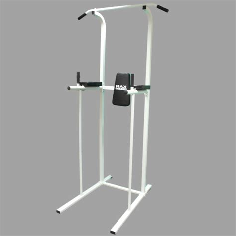 max fitness power tower ab dip station pull chin up bar