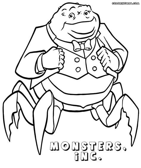 Monsters Inc Coloring Pages Coloring Pages To Download Inc Colouring Pages