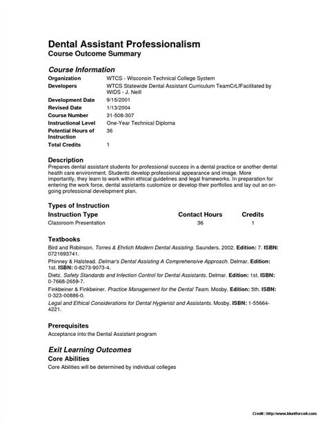 resume templates for dental assistant sle resume dental assistant no experience resume