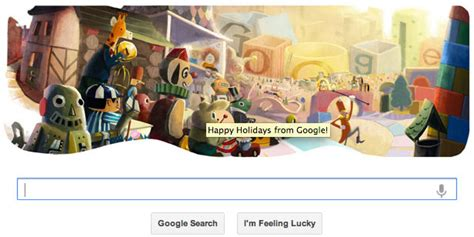 google images happy holidays google s happy holidays logo quot destroyed the christmas
