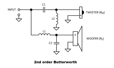 passive subwoofer crossover circuit diagram circuit and