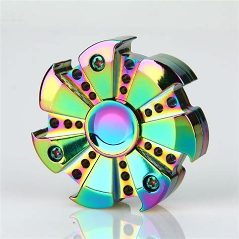 Fidget Spinner Pelangi Rainbow Metallic Wheel fidget spinner turbine rainbow ceramic bearing edc toys