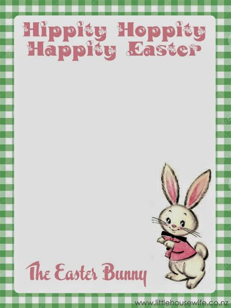 happy easter note letter from the easter bunny