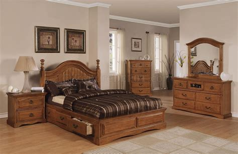 light brown pine finish classic bedroom w storage bed
