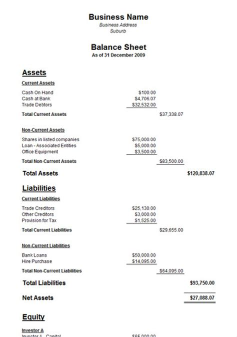 Balance Sheet Templates Helloalive Free Business Balance Sheet Template