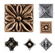 2x2 Metal Accent Tiles by Decorative Tile Inserts Metal Accent Tiles And Overlays
