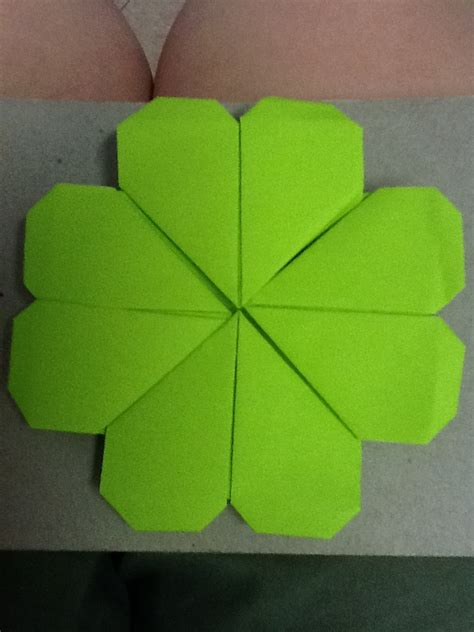 Origami Four Leaf Clover - origami four leaf clover by nightrideralice on deviantart