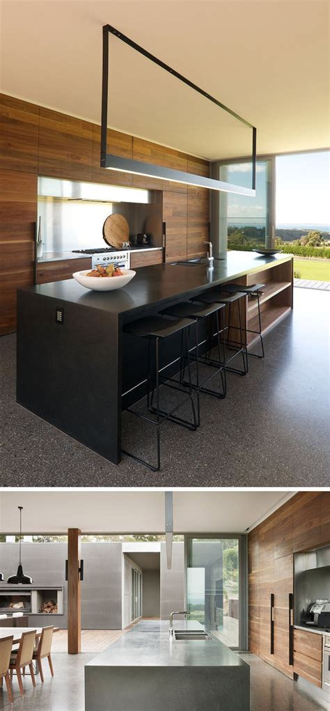 Kitchen Island Lighting Pictures Kitchen Island Lighting Idea Use One Light Instead Of Pendant Lights Contemporist