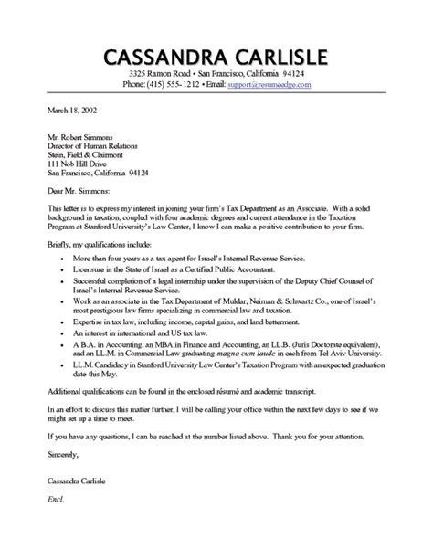 Tax Manager Cover Letter by Tax Cover Letter