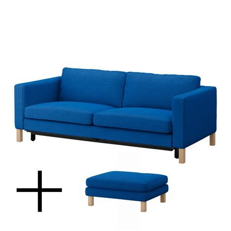 Sofa And Ottoman Covers Ikea Karlstad Sofa Bed And Footstool Slipcovers Sofabed