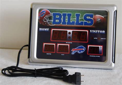 buffalo bills desk accessories buffalo bills scoreboard alarm wall desk clock nip with