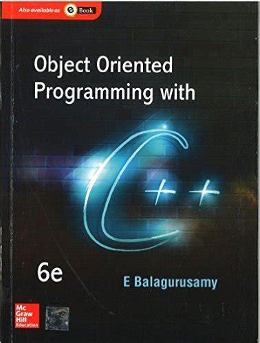 tutorialspoint object oriented programming object programming e balaguruswamy c pdf free download