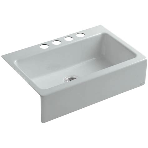 Undermount Cast Iron Kitchen Sink Kohler Dickinson Undermount Farmhouse Apron Front Cast Iron 33 In 4 Single Basin Kitchen