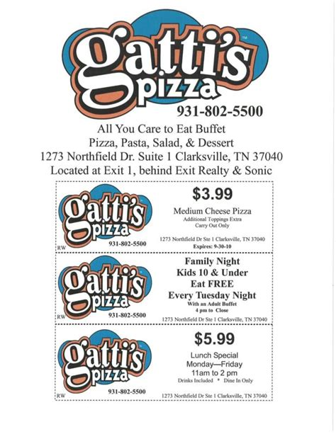 it s tuesday and tonight and kids eat free at gatti s