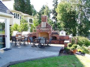 Backyard Brick Grill Outdoor Brick Fireplace With Grill Farm And Garden