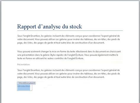 Modele Rapport Word exemple modele rapport word