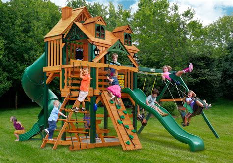 Lowest Price Gorilla Malibu Deluxe I Playset Swingset