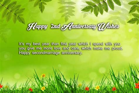 Wedding Anniversary Advance Wishes by 2nd Marriage Anniversary Wishes For Husband Wishes4lover