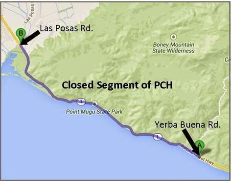 Pch Closures - mudslides close nine mile stretch of pacific coast highway caltrans district 7