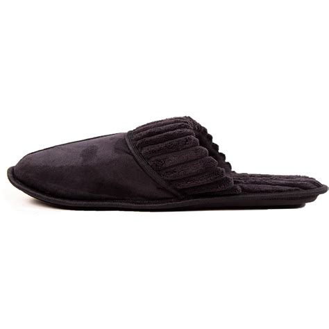 mens house slippers mens slippers slip on house shoe scuff fleece faux suede clog indoor outdoor new ebay