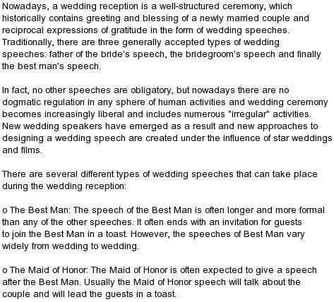 all kind of best wedding speeches wedding reception best man speech
