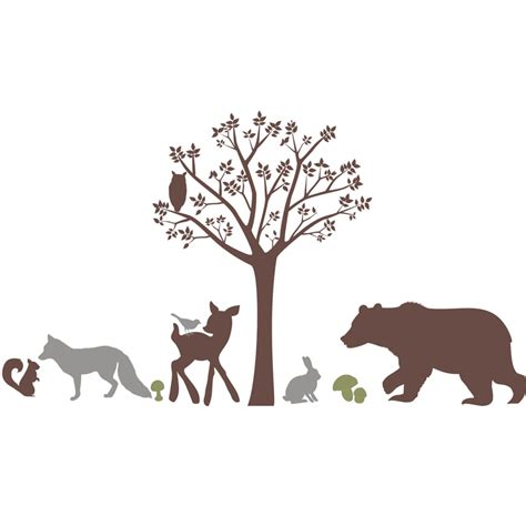forest wall stickers forest critters wall decal by alphabet garden designs