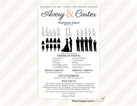 diy wedding fan program template download instantly editable