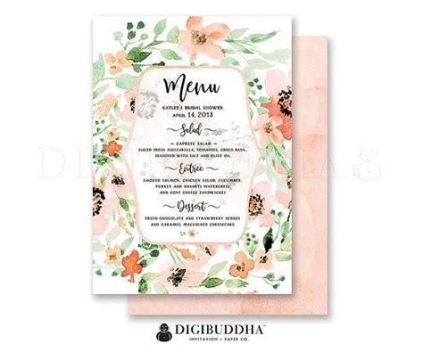 free printable bridal shower menu 26 best images about digibuddha menus wedding programs