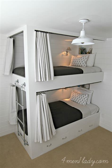 Diy Built In Bunk Beds Bunk Beds And Bedroom Reveal