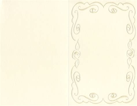 Embossed Panel Card Templates 02097 by Ivory Embossed Printable Invitation Kit 45583 Geographics