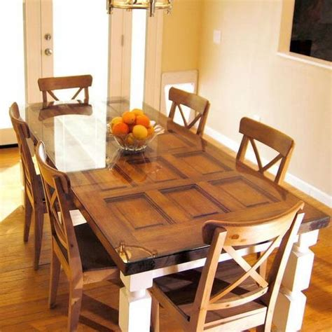 making a dining room table ideas para reciclar puertas de madera ejemplos