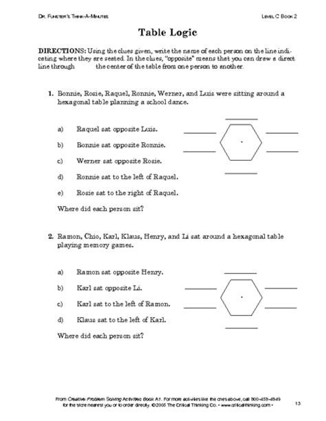 Critical Thinking Worksheets by Critical Thinking 038 Pdf Education World