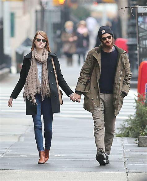 emma stone boyfriend list emma stone out about with her boyfriend in new york city