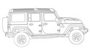 jeep wrangler unlimited coloring book page jeep