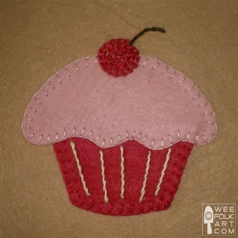 felt applique patterns cupcake block applique wee folk