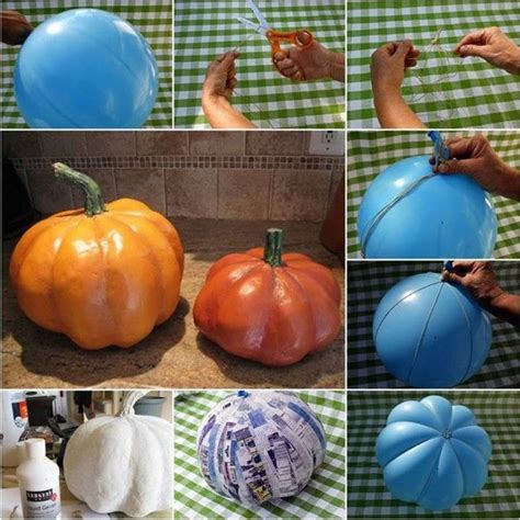 paper mache pumpkins these are the best fall craft ideas
