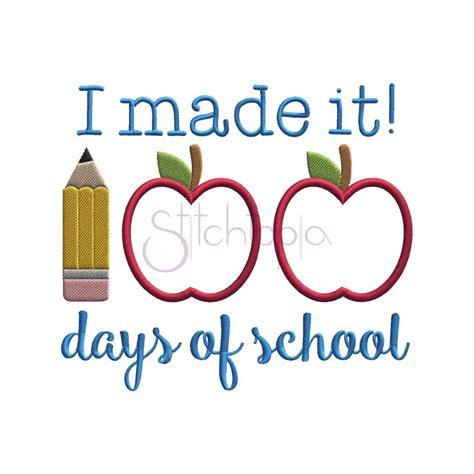 100 Days of School Applique Design   Stitchtopia